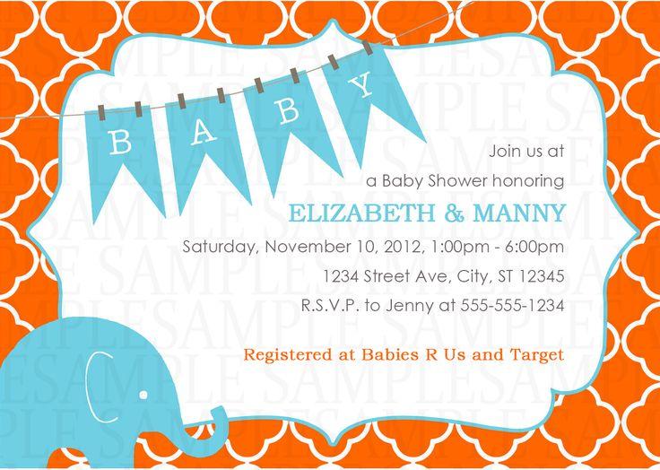 elephant baby shower digital invitation 11