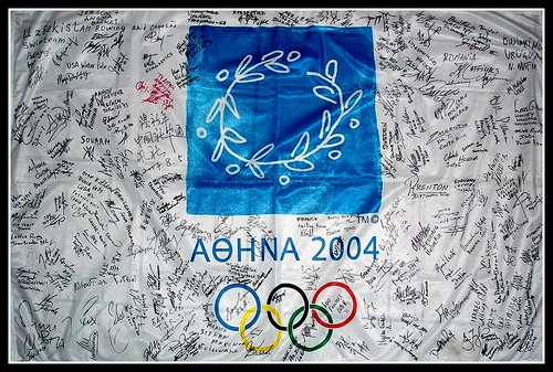 ATHENS 2004 - Olympic Flag by photogon, via Flickr