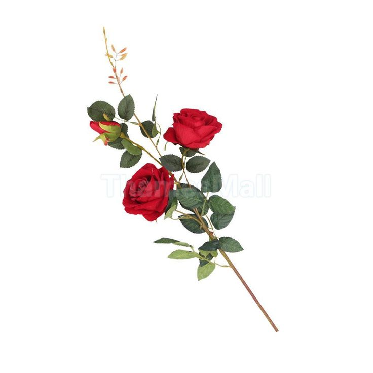 Artificial Rose Faux Silk Foral Wedding Home Flower Arrangement Decor Red