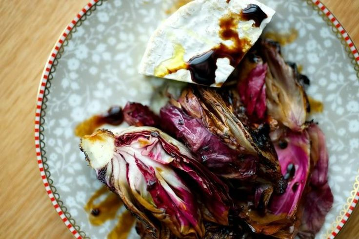 grilled radicchio with goats cheese | yummy tummy | Pinterest