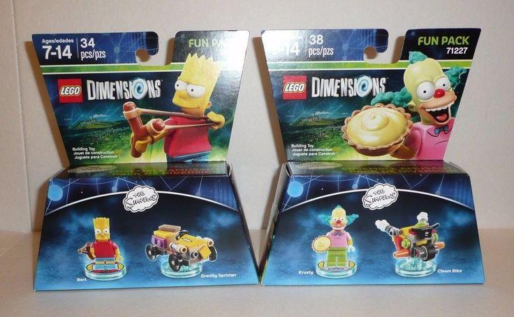 SIMPSONS Lego Dimensions Fun Packs 71211 71227 Krusty Clown Bike Bart Sprinter #LEGO
