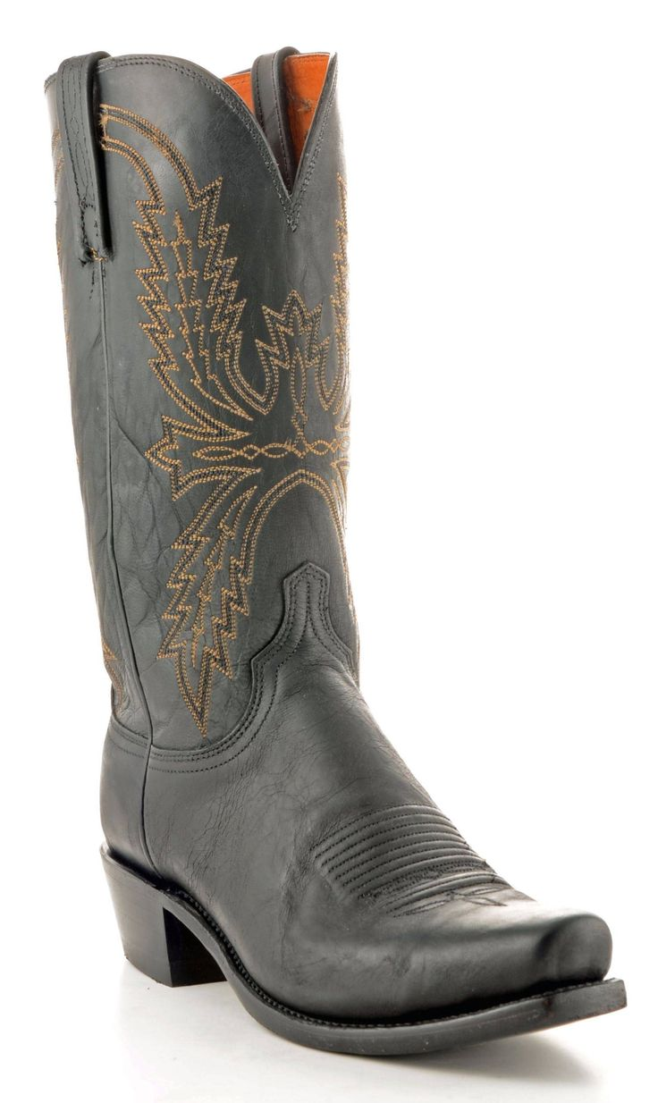 Men's Lucchese Mad Dog Goat Black Boots #N1560
