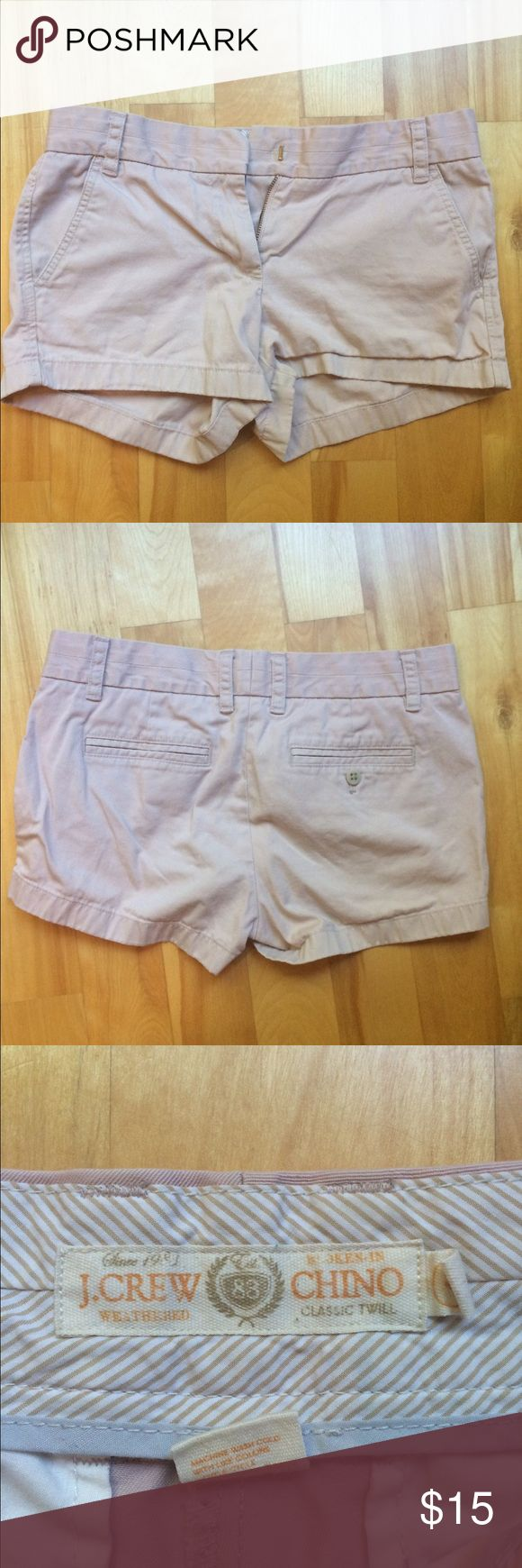 "J.Crew 3"" Chino Shorts Light pink shorts; good condition. J. Crew Shorts Jean Shorts"