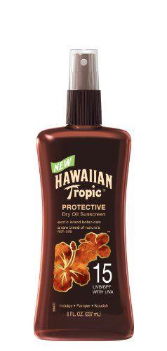 23% Off was $8.99, now is $6.92! HAWAIIAN Tropic Tanning Oil Pump Spray SPF 15, 8 Fluid Ounce  #HawaiianTropic