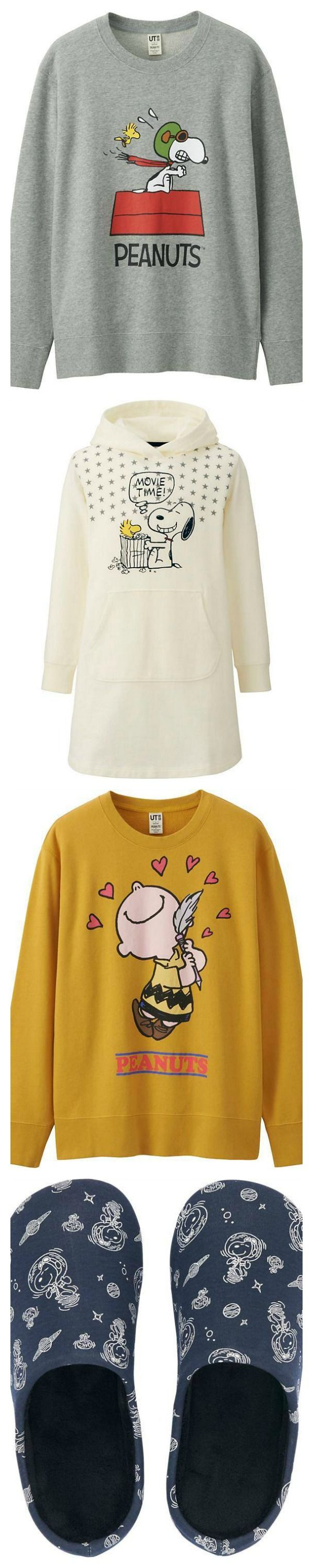 The Peanuts Movie has inspired the latest collection of t-shirts, sweatshirts, slippers and girls dresses featuring Snoopy and Charlie Brown. Visit CollectPeanuts.com to start your gift list and support our site. Thank you!