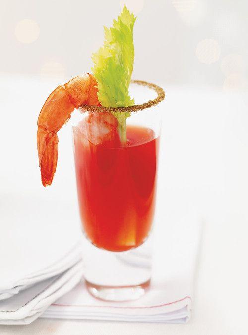 Shrimp Bloody Caesar Shooters Recipes   Ricardo