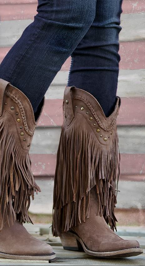 Fringe Boots are so fall <3