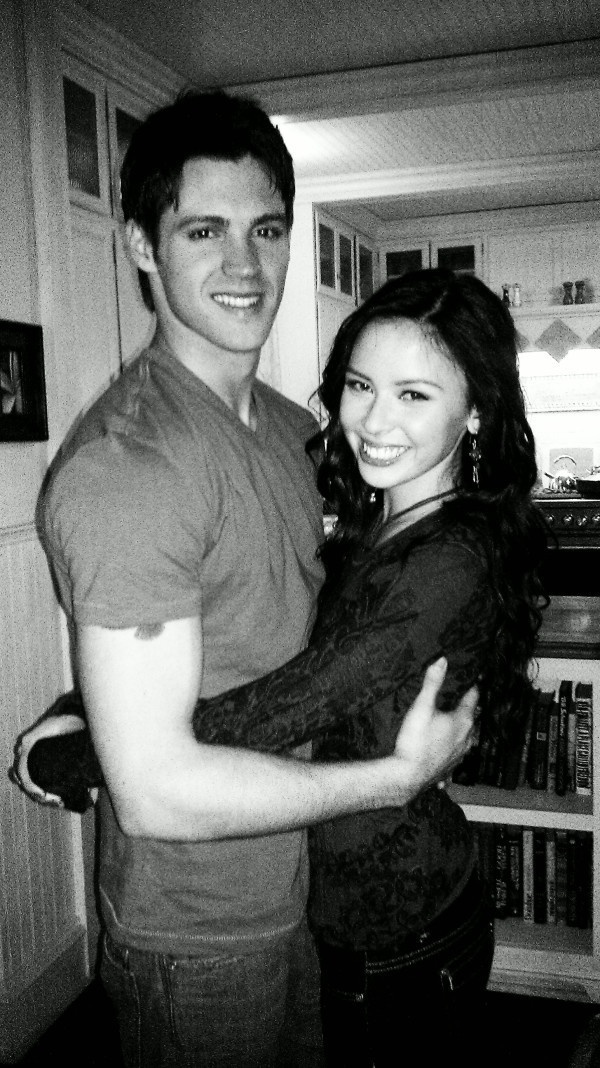 Steven R McQueen & Malese Jow [both dead?].I love watching vampires diaries.Please check out my website thanks. www.photopix.co.nz