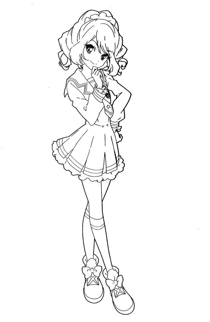 Stars Coloring Pages Aikatsu Stars Coloring Pages Princessamisi On