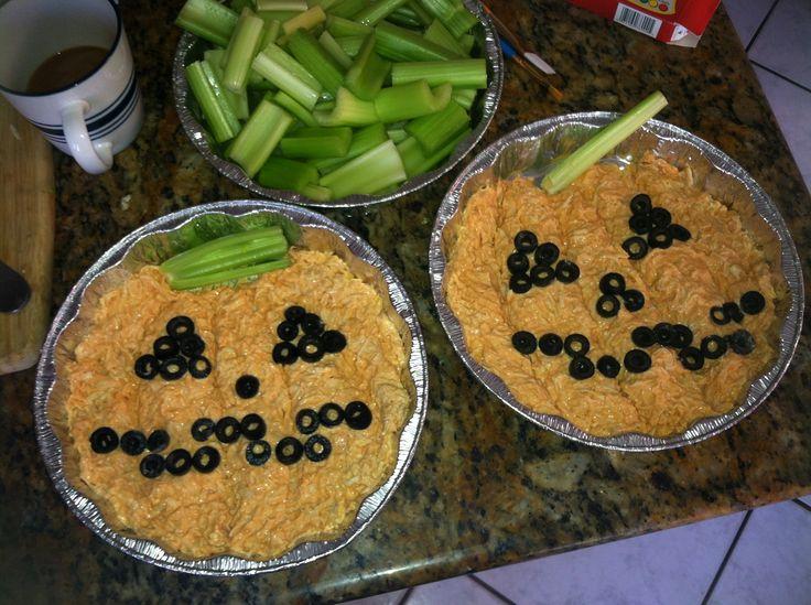 Buffalo Chicken Halloween Dip Made With Chicken Breast