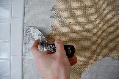 How to cover walls with burlap