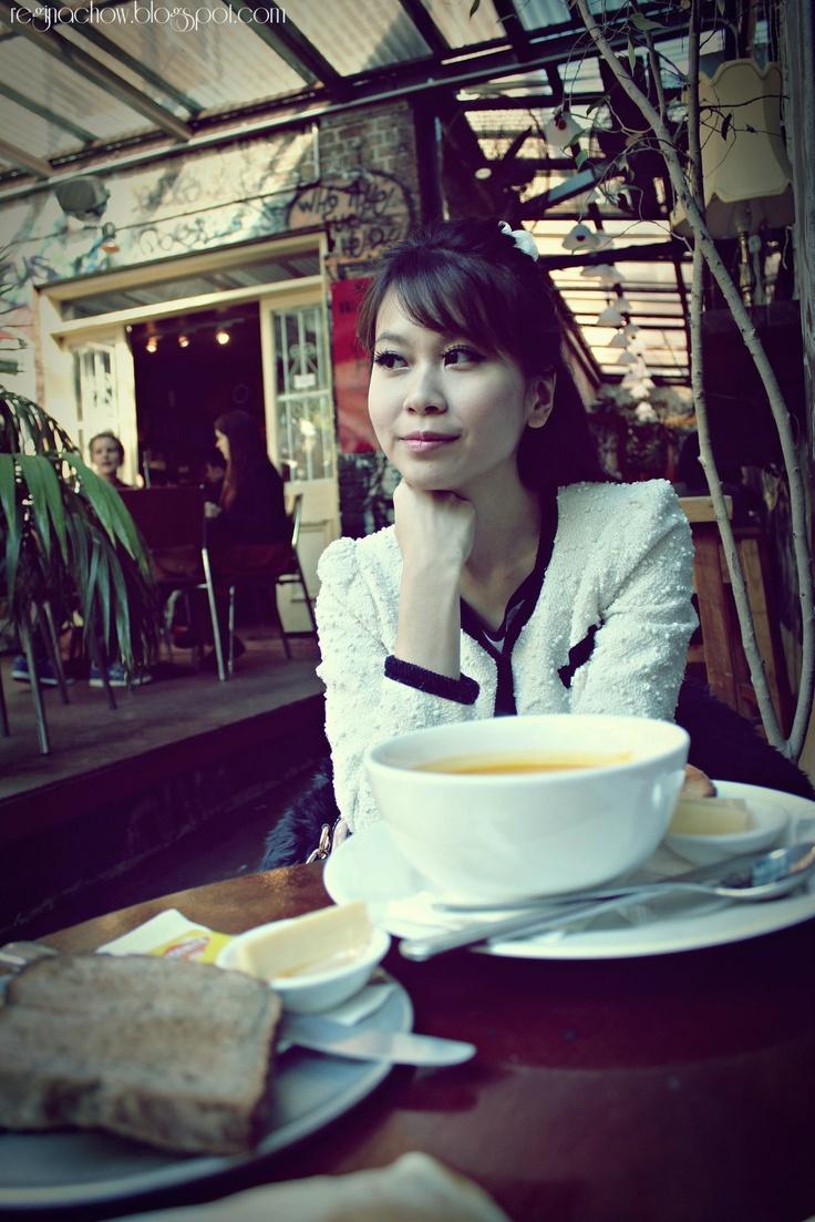 Enjoying brunch at Sappho Cafe at Glebe, Sydney