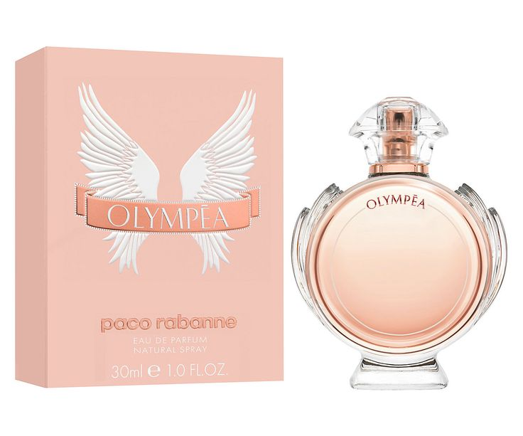 Paco Rabanne Olympéa ~ Top notes: green mandarin, ginger lily, water jasmine Heart: salted vanilla Base: ambergris, cashmere, sandalwood