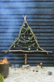 Cute stick Christmas tree