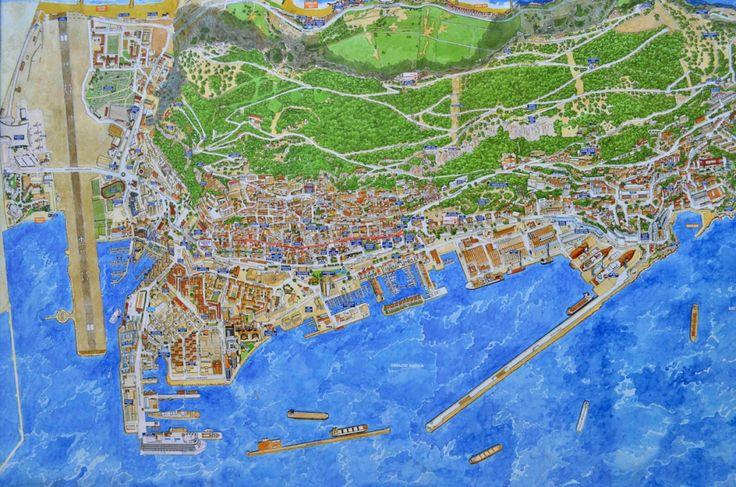 Gibraltar Maps Dispenser   SkyTravelr