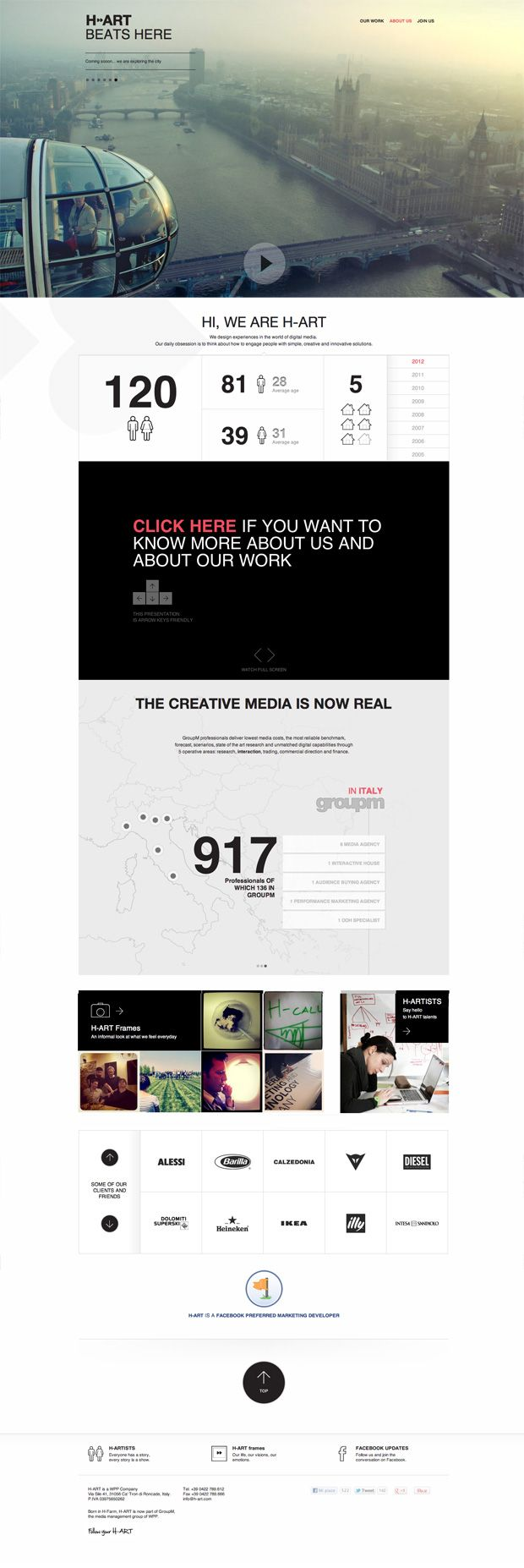 Clean & Minimalistic Webdesign #webdesign