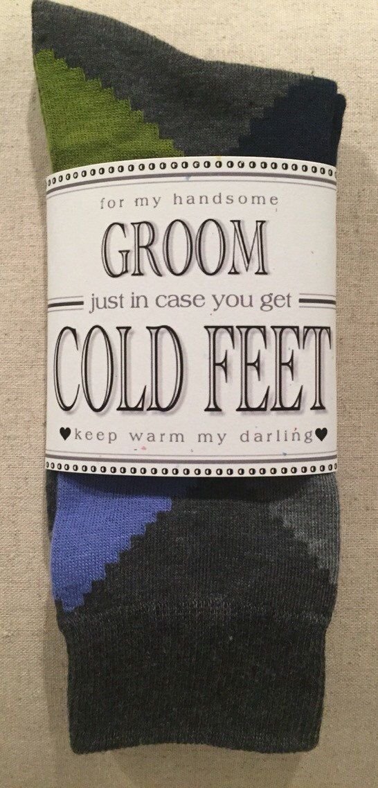 Fabulous Groom's Wedding Gift From Bride Gray by ColdFeetSocks