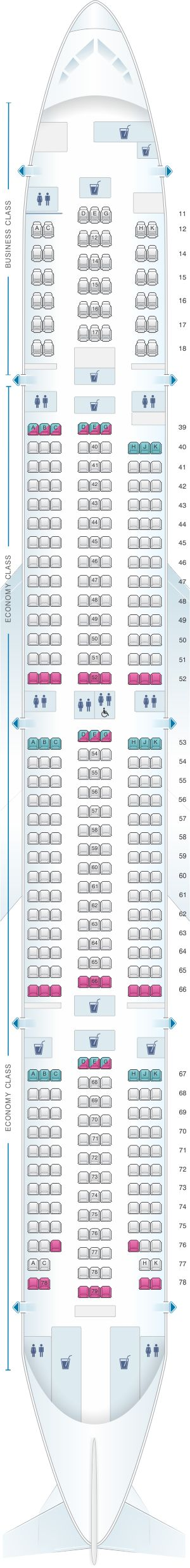 Seat Map Cathay Pacific Airways Boeing B777 300 (73Z)