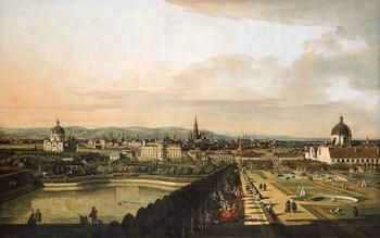 Wien, vom Belevedere aus gesehen, (Vienna, from the Belvedere), Canaletto (Bernardo Bellotto), 1758/1761.