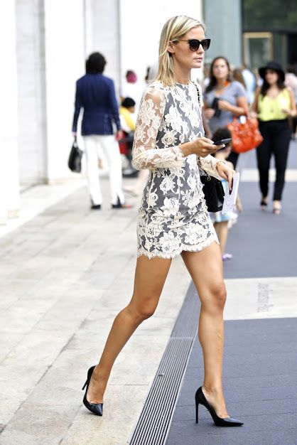 Spring lace dress.