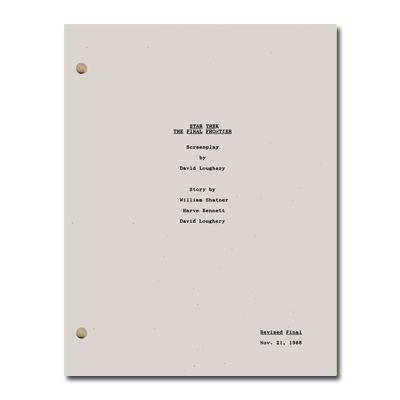 Star Trek V: The Final Frontier Script