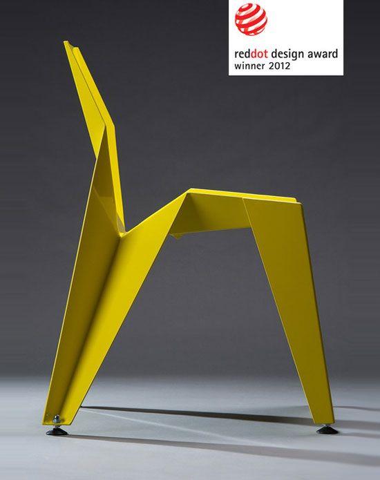4 Novague Edge Chair Chaise Origami Aluminium Novague Edge Chair : Chaise Origami en Aluminium