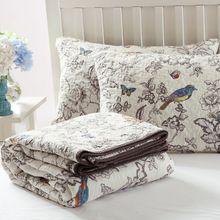 Luxe 100% Katoen Quilt Collection Omkeerbare 3-Piece Wasbare Quilt, koning Quilten Set Bed cover dekbed dekbedovertrekken laken(China (Mainland))