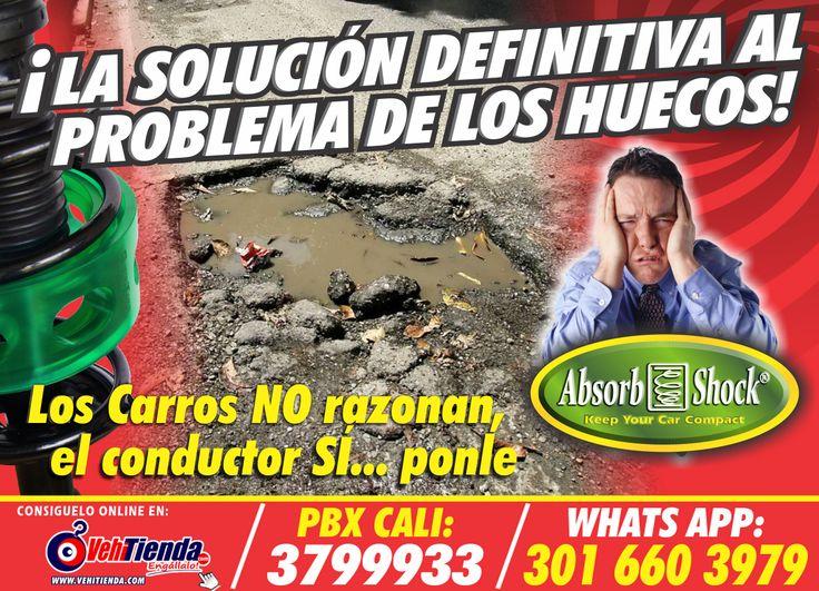 """Protege tu vehículo de los huecos y viaja tranquilo con Absorb Shock® """"La Solución al Problema de los Huecos"""".  Para más información: 🚗🏁 http://www.absorb-shock.com/ 📱 https://vehitienda.com/…/13-todas-las-marcas-reductor-de-go…  Encuentra esto y mas en www.vehitienda.com o comunícate al 3016467000 - 3016603979 - (2)3799933"""