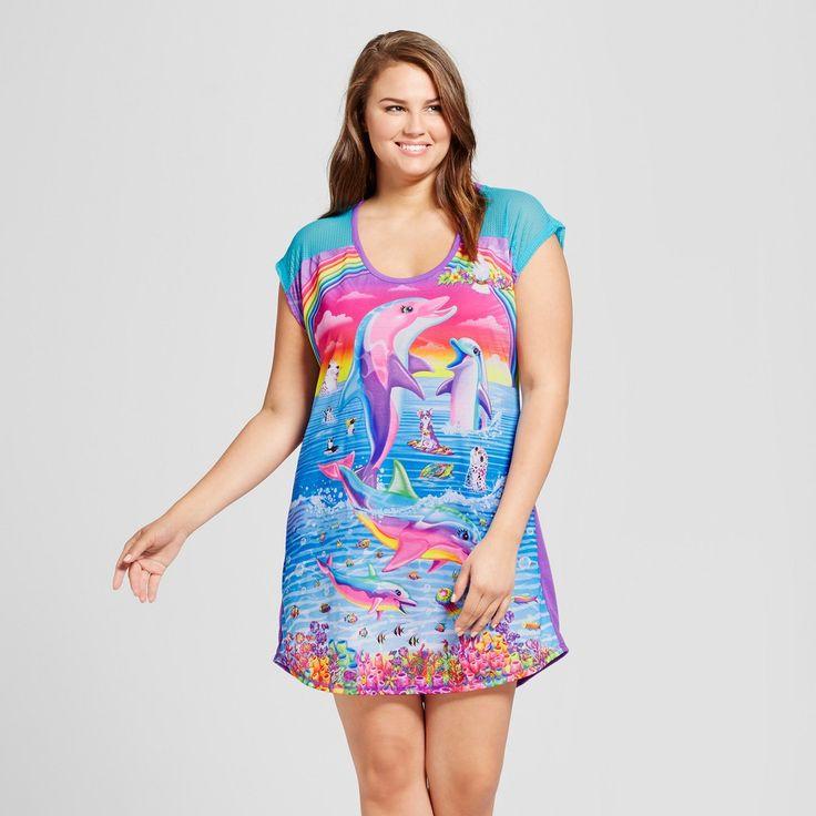 Women's Plus Size Lisa Frank Sleep Shirt - Purple 3X