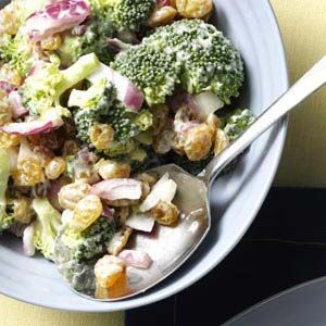 Broccoli Raisin Salad Recipe--One of the BEST salads EVER. Hyvee has a better recipe, but this is pretty darn close!