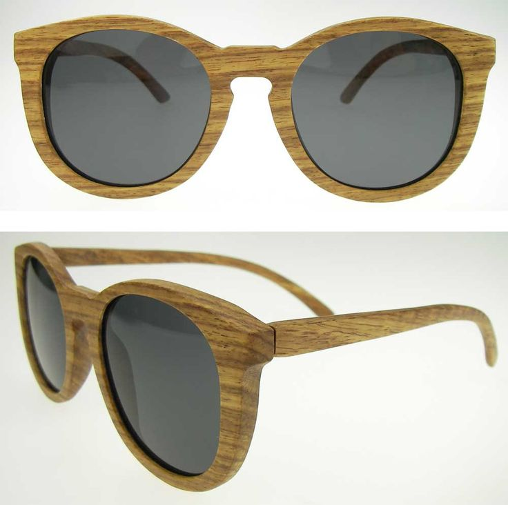 Round Wooden Vintage Inspired Sunglasses Summer 2015 by ixShop on Etsy