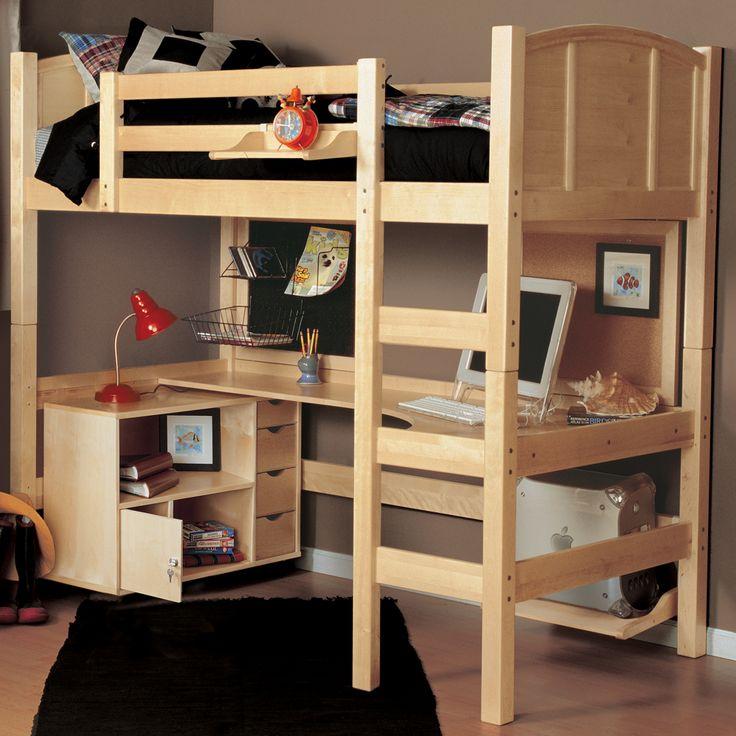 Kids Bedroom Loft 82 best ian's room images on pinterest | 3/4 beds, loft beds and