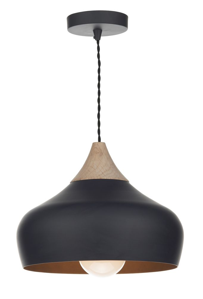 GAU0122 Gaucho 1 Light Black Ceiling Pendant Light with Wood Detail from Lights 4 Living  sc 1 st  Pinterest & 38 best Modern Pendant Lights images on Pinterest | Ceiling ... azcodes.com