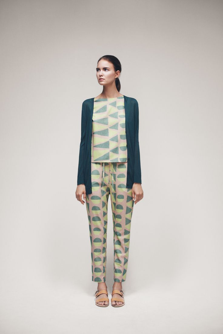 Ammy Cardigan, Starling Top and Penguin Trousers | Samuji SS15 Seasonal Collection