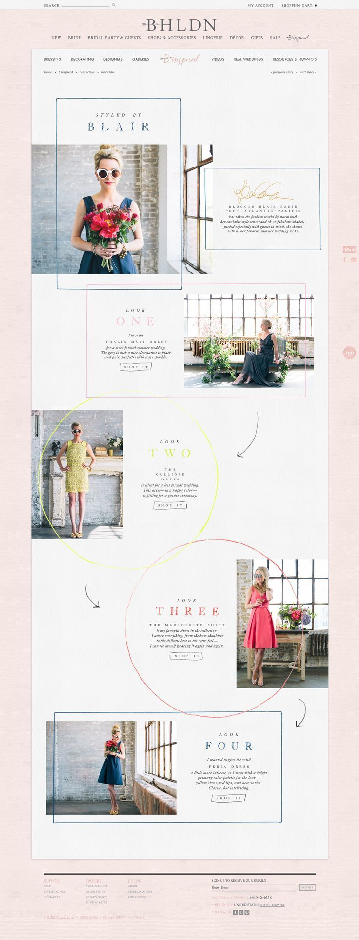Elysse Ricci Más beautiful and simple feminine website design: http://www.elyssericci.com/  かわいい パステル 海外 シンプル 女の子