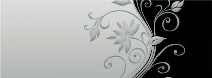 Vector Flower Black And White Hd Fb Timeline Cover 851x315 Facebook Covers