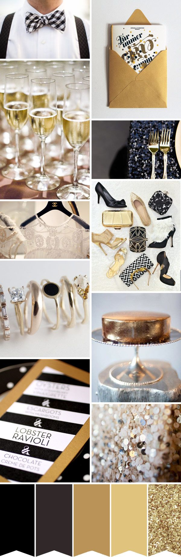 Black Tie Wedding - patterns can be used effectively, stripes, check, zebra, chevron to add interest, depth and texture to the decor