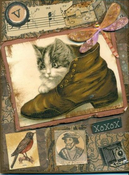 Kitten In A Shoe Greeting Card $2.50