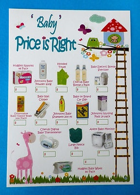 how to make baby shower prices