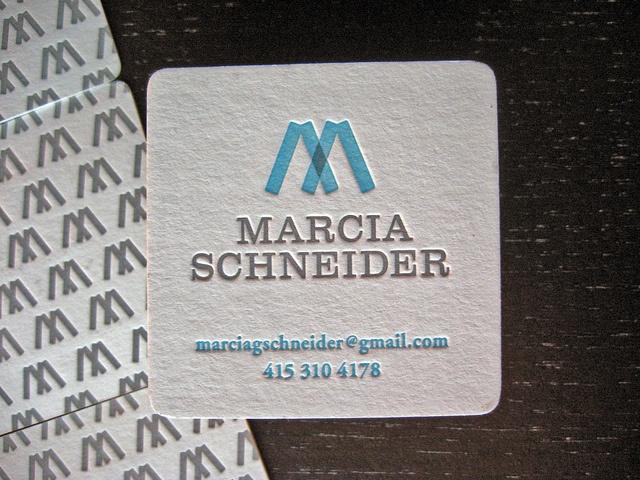 Best Square Letterpress Business Cards Images On