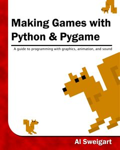 """There are four different books to check out: """"Automate the Boring Stuff with Python"""" """"Invent Your Own Computer Games with Python"""" """"Making Games with Python & Pygame"""" """"Hacking Secret Ciphers with Python"""" Also can download the last three book in pdf, mobi, or ebup. More books on this site to buy - http://inventwithpython.com/bookshelf/"""