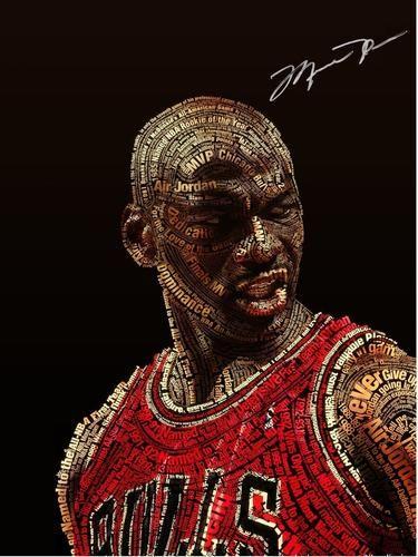 Michael Jordan Poster Print Art Wall Decor, NBA