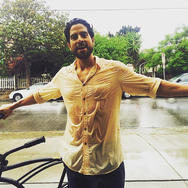 Pin for Later: All the Times Adam Rodriguez Was the Hot Guy of Your Dreams When His Soaking Wet T-Shirt Showed His Pecs