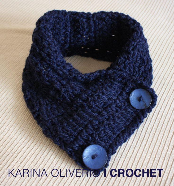 Crochet scarf pattern, cuello a crochet con patrón.