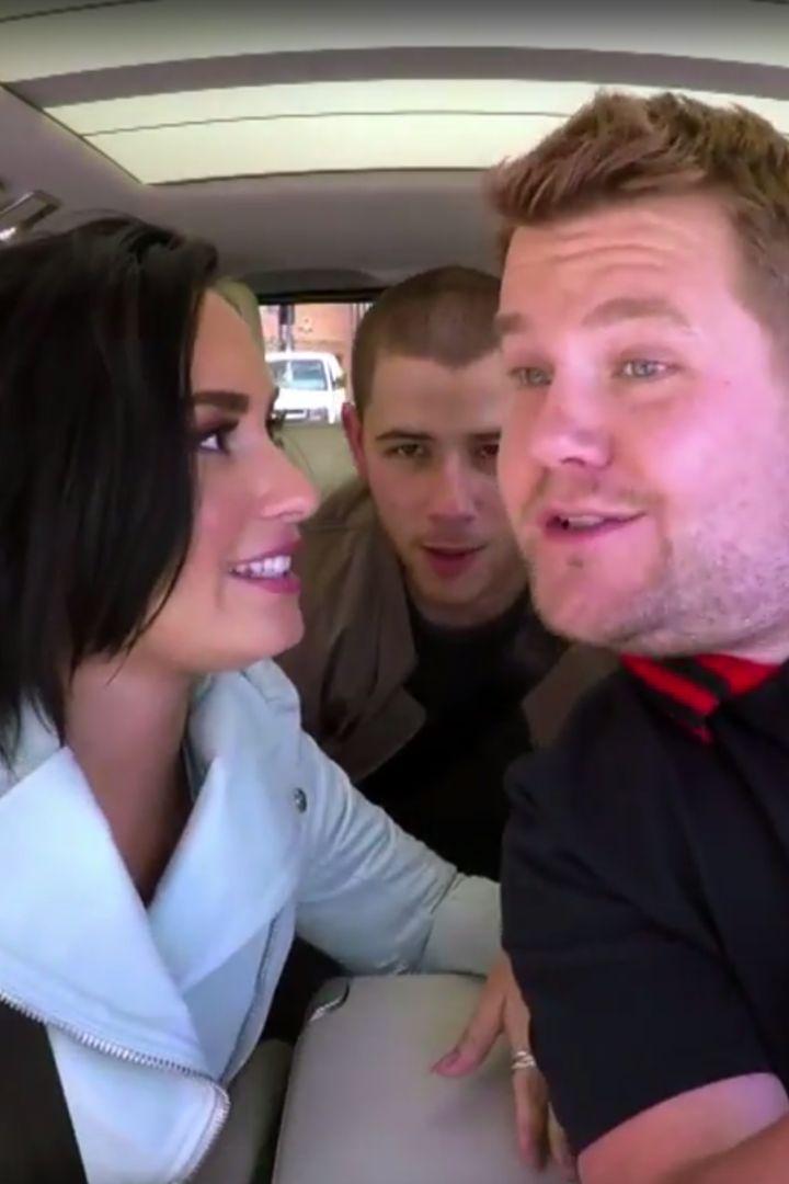 Demi Lovato Hilariously Grills Nick Jonas About His Dating History During Carpool Karaoke Pinterest