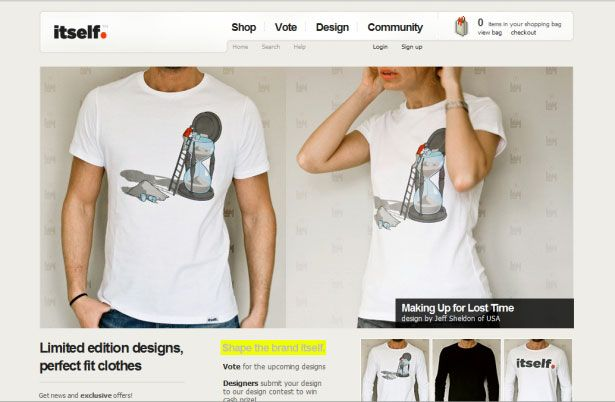 26 Examples of Online T-Shirt Shops