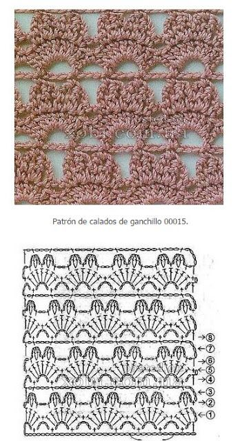 Mejores 14 imágenes de Patrones de puntos crochet en Pinterest ...