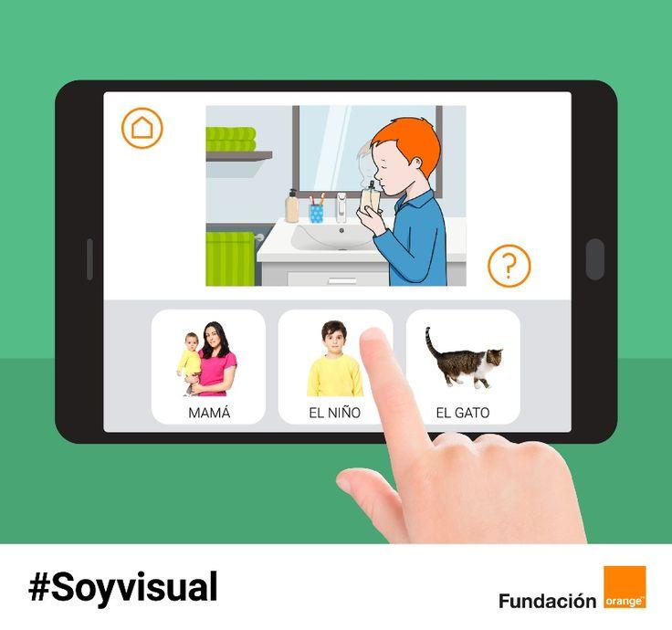 La Fundación Orange presenta #Soyvisual, un nuevo sistema de comunicación aumentativa que incluye fotografías, láminas y diversos materiales gráficos.