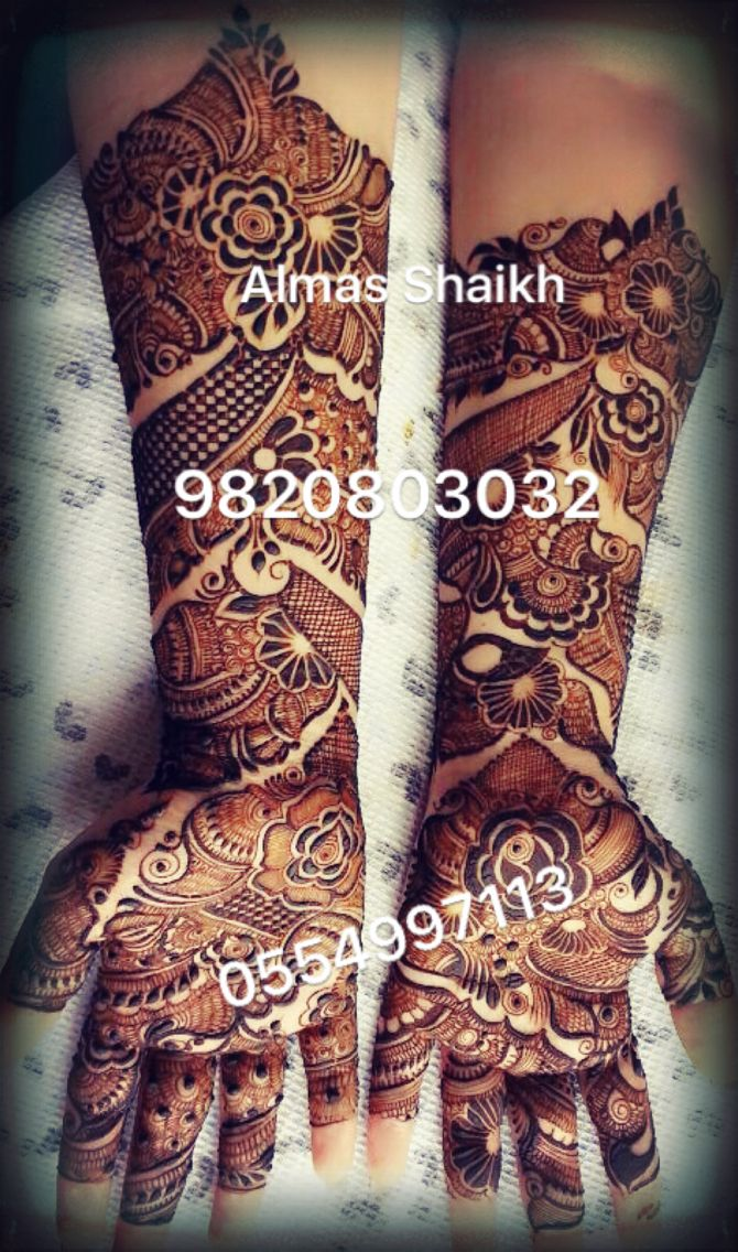 Hey friends ..Its me Almas Shaikh  henna designer .Based in Dubai ( Jumeirah ) JBR...India (Mumbai ) .For almost 2 decades I have adorned the hands of Brides/ Actress from Bollywood/ and Telivision Industry..I have expanded my work across India and the Arabs World..With dedicated Team ..we undertake large henna function /party orders..and so.Please feel free to contact us 0554997113   9820803032 ..email us almas.henna@gmail.com ..Instagram almas_hennadesign..  You can also Google or YouTube…