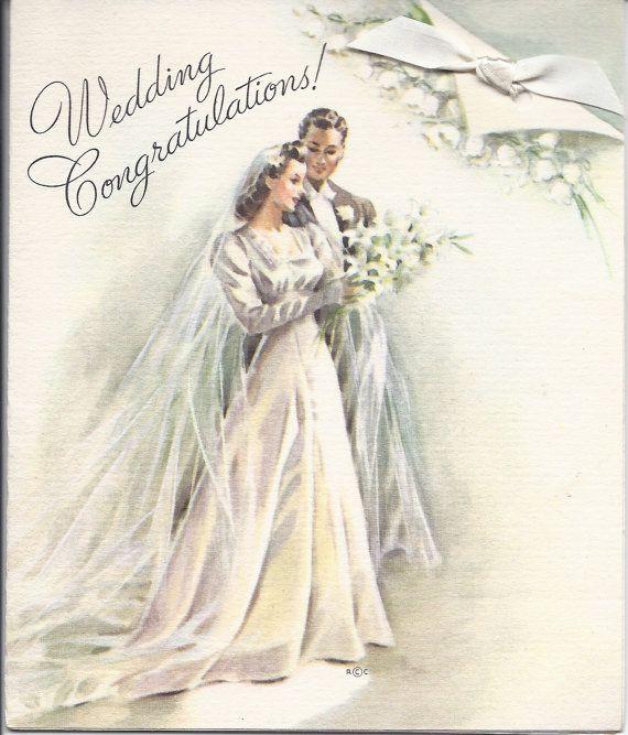 Wedding Congratulations Vintage Wedding Cards